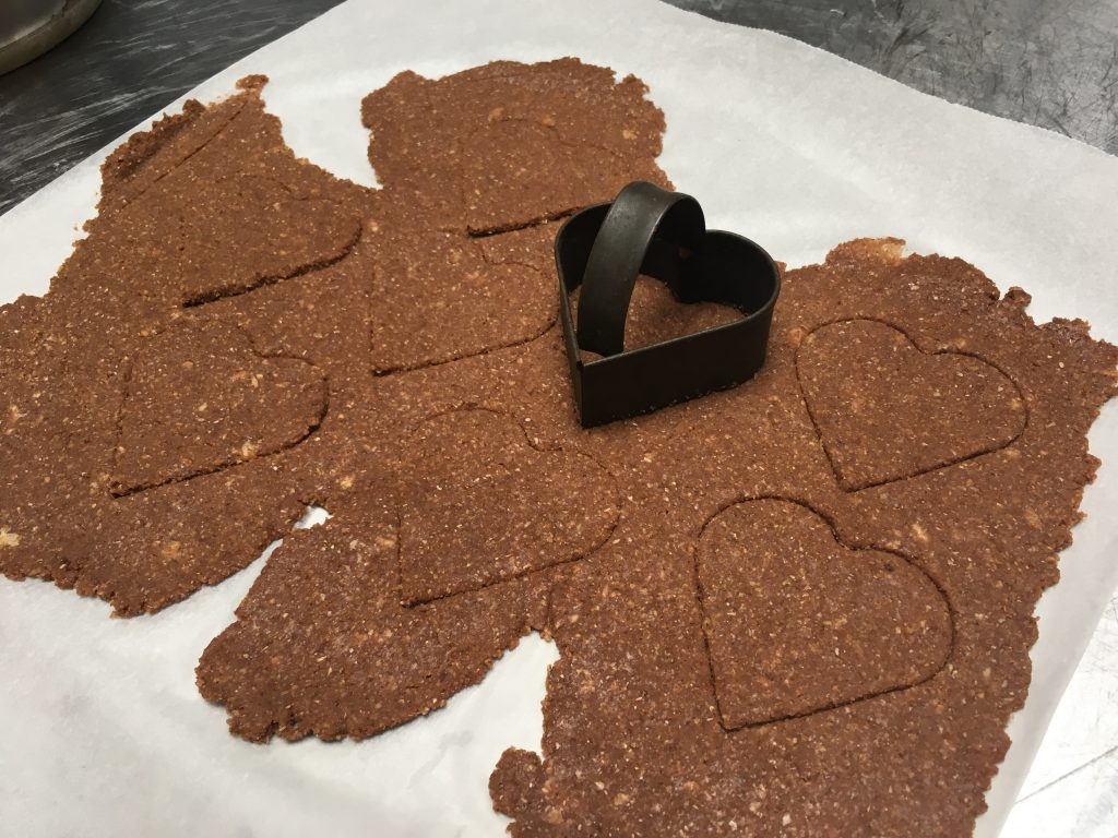 Gingerbread and heart shaped cutter