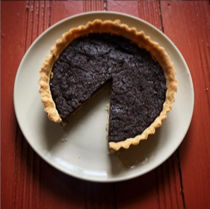 A delicious chocolate tart