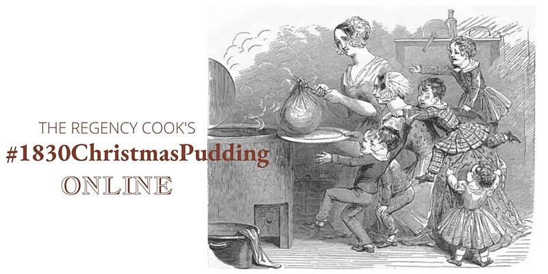 VIctorian children alarmed as cook removes a giant pudding from a boiling pan